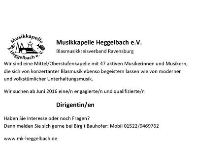 Musikkapelle Heggelbach sucht Diri_ohne rahmen
