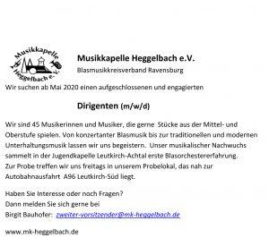 MK Heggelbach sucht Dirigenten